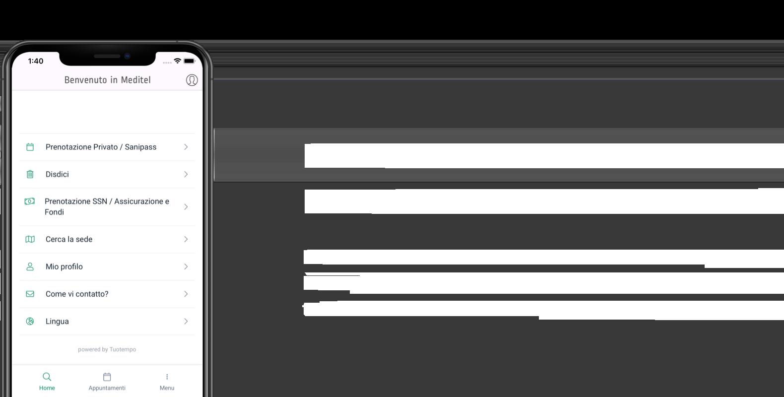 Prenota da casa con la nuova app Gruppo Meditel!